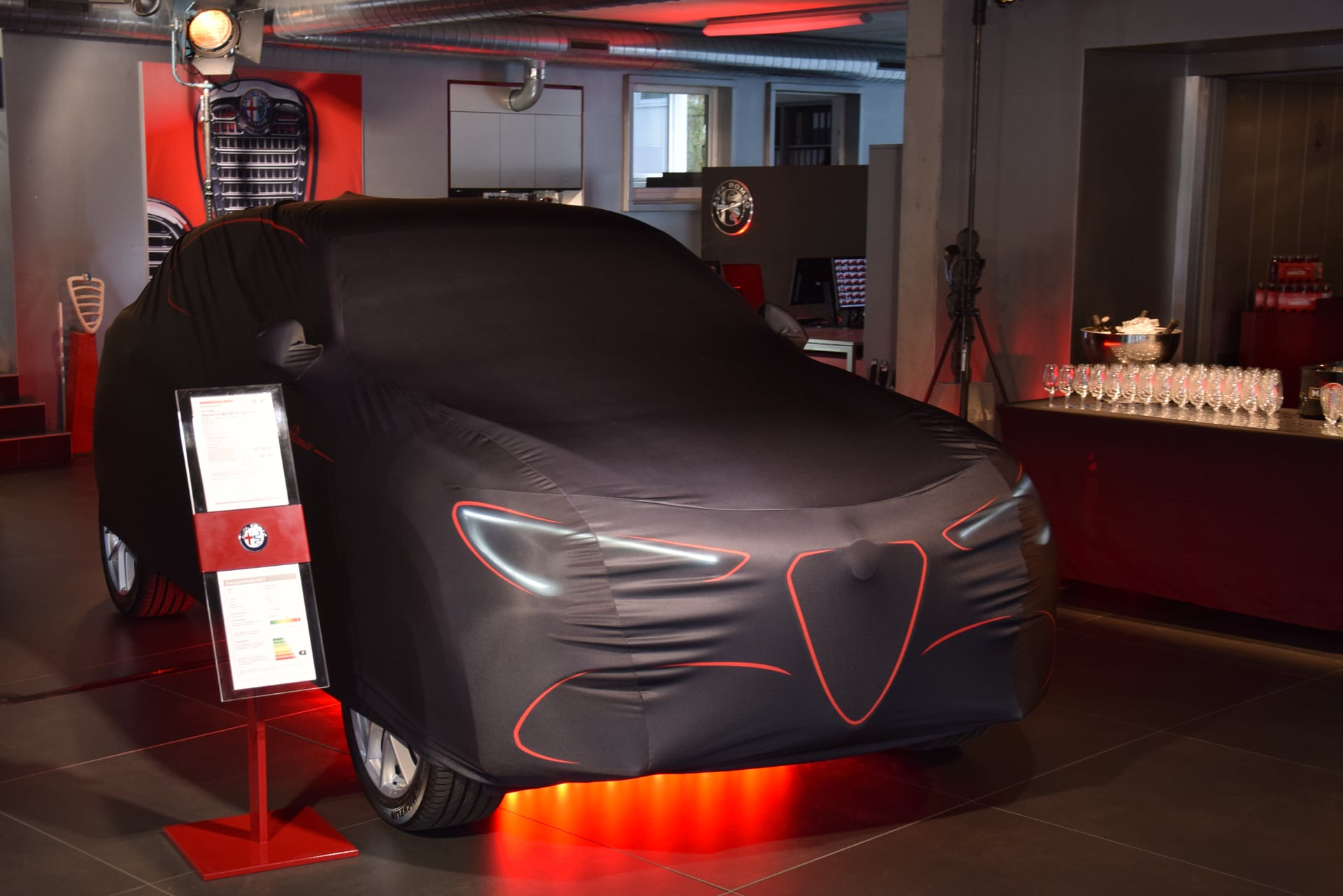 premiere alfa romeo stelvio in der schloss garage. Black Bedroom Furniture Sets. Home Design Ideas