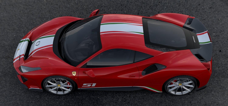 Ferrari Ein Spezieller 488 Pista Für Renn Kunden